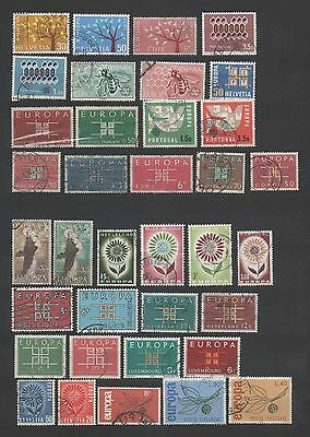 Europa Cept 36 Timbres Obliteres Differents  Lot 5