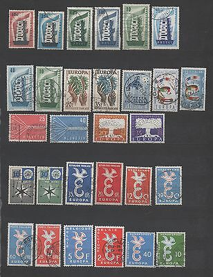 Europa Cept 29 Timbres Obliteres Differents  Lot 3