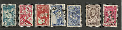 early France Commemorative Stamps - famous people, views -  used