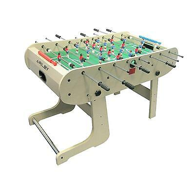 Riley Football Table Game Party Indoor Pub Club Foldable Foosball Solid Chrome