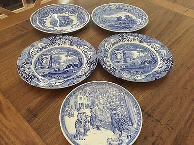 Collection of 5  SPODE Plates