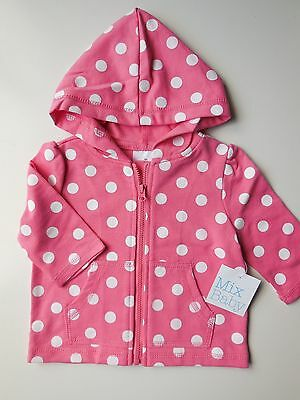 Baby Girl Lightweight Hoodie Jacket Size 00 Fits 3-6M *new