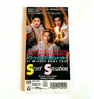 """SWEET SENSATION If Wishes Came True JAPAN PROMO 3"""" CD Single 1990 AMDY-5029"""