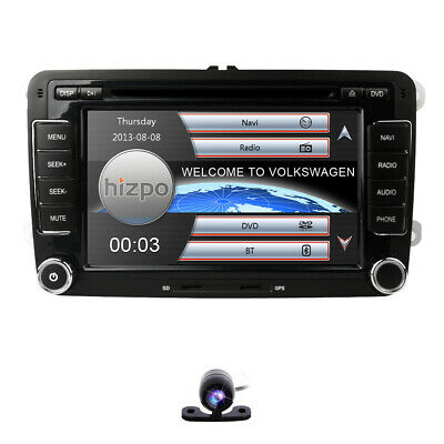"""7"""" 2Din In Dash Car Stereo DVD Player GPS Navigation Bluetooth Radio+CAM For VW"""