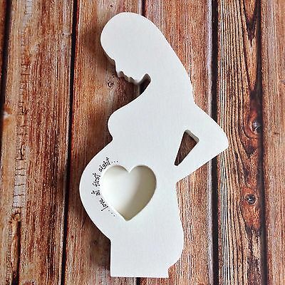 Freestanding Pregnancy Scan Photo Frame Mum To Be Gift. First Baby Pic.