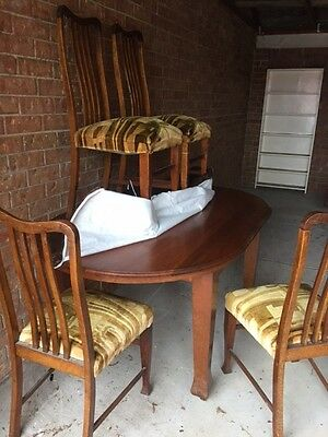 Antique Dining Table & 4 Chairs