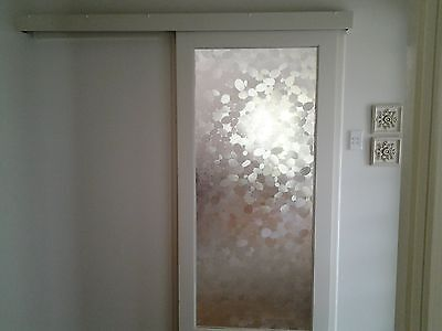 sliding door timber/glass art deco from the 60's
