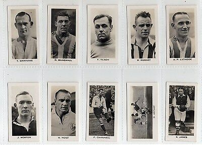 English & Scottish Footballers' .full Set  .issued By J. Sinclair In 1935 . Ex.