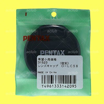 Genuine Pentax O-LC58 Front Lens Cap 58mm Lens Dust Cover Protector