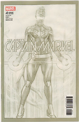 Mighty Captain Marvel #1 Marvel Comics Alex Ross Retailer Bonus Variant 2017 VF