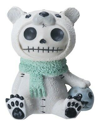 FurryBones Chilton Figurine Polar Bear Cool Cute Gothic Skull Skeleton Gift Fun