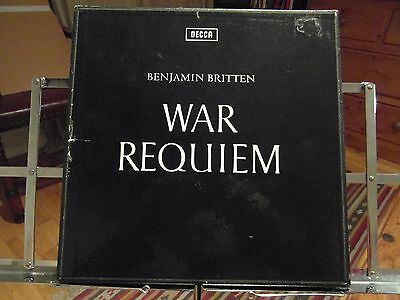 Benjamin Britten - War Requiem - Ex+ 2 Vinyl Box Set -With Booklet - 1963 Decca