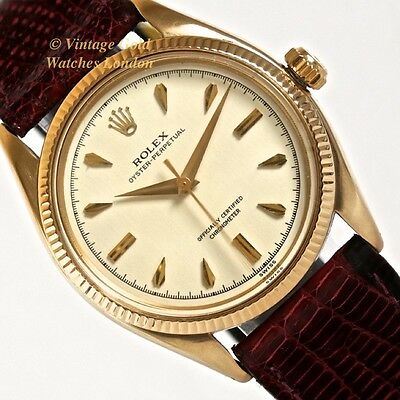 Rolex Oyster Perpetual 18Ct, 1955 Gents Vintage Watch - Just Beautiful!
