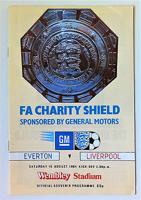 Everton v Liverpool - F.A. Charity Shield 1984.