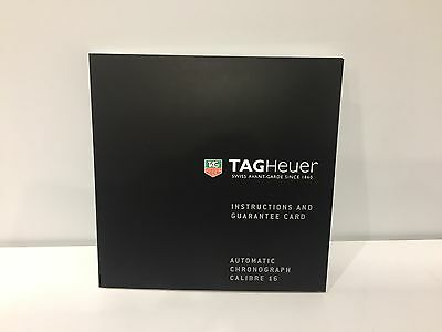 TAG HEUER - Instructions - Automatic Chronograph Calibre 16 - 11,3 x 11,3 cm