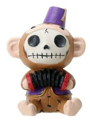 FurryBones Munky Fez Figurine Monkey Cute Gothic Cool Fun Different Skull Gift