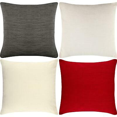 Luxury Plain Chenille Cushion Covers Soft Cover 43 x 43cm 17x17""