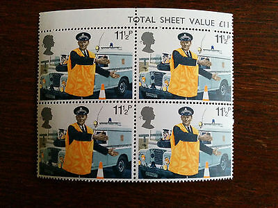 GB mint and unmounted block of 4 Police stamps - 1979 (my ref. tsv4)