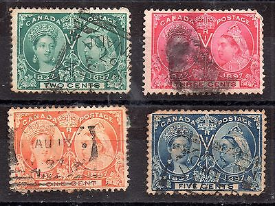 Canada 1897 QV Jubilee used set to 5c WS3110