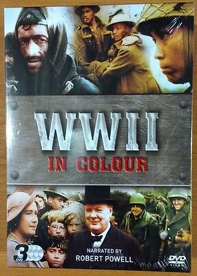 WWII In Colour - Triple Pack (DVD, 2016, 3-Disc Set) NEW SEALED FREE POSTAGE