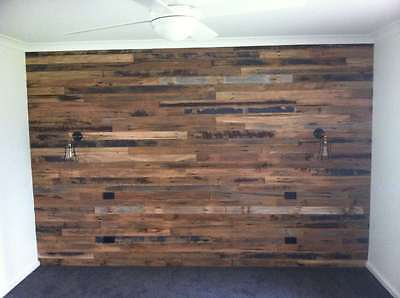 SALE _Recycled hardwood timber pre fabricated feature wall panels
