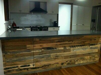 Recycled timber counter face feature panels