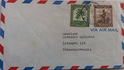 Belgium Congo 1946 Airmail Cover From Leopoldville To Czechoslovakia