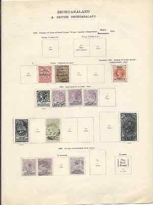 Bechuanaland Collection M/u To 1935 (35 Stamps)