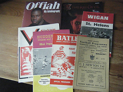 Rugby League  Programmes And Book  1963 Warrington  Batley  Martin Offiah Oldham