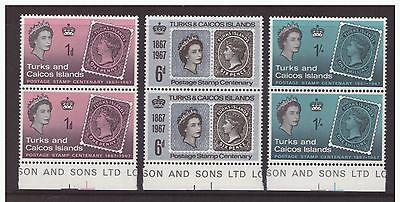 Turks & Caicos Islands 1967 Postal Stamps History set  mint MNH
