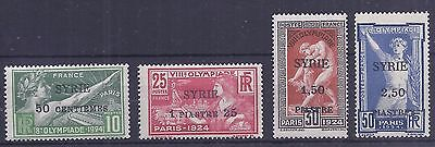 Syria 1924 SYRIE Olympic set of 4 hinged mint