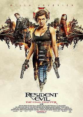 Resident Evil The Final Chapter (2016) V9 - A1/A2 POSTER **SEE OFFER**