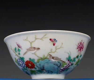 Rare Chinese Antique Hand Painting Pottery Porcelain Bowl Marked GuangXu