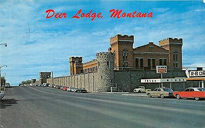 "Deer Lodge Montana~Street Scene~State Prison~R-B Drive In ""Fries Rinks""~60s Cars"
