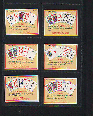 cigarette cards the game of poker 1936 complete set