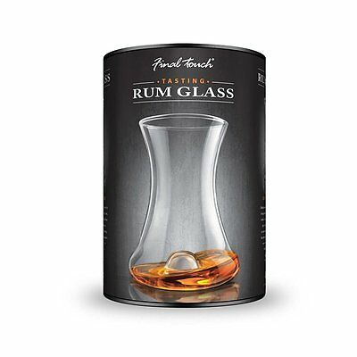 Final Touch RUMTASTER Rum Glass Tasting Set - Curved glass Designed For Fine Rum