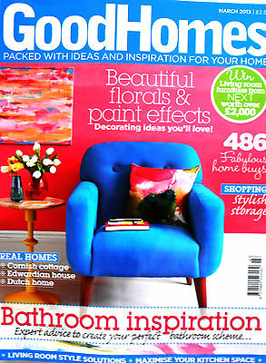 Good Homes Magazine March 2013 Bathroom Inspiration 486 Home Buys Florals Paints