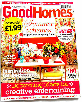 Good Homes Magazine August 2012  very good condition