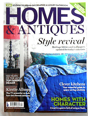 Homes and Antiques Magazine April  2015 vgc
