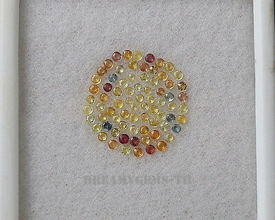 75 Pcs / 3.08 Ct Multi Color Sapphire Round Normal Gemstone Lot