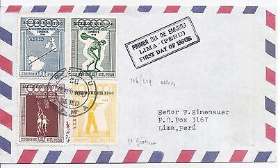 Peru 1956 Melbourne Olympics first day cover