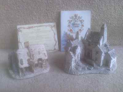 Lilliput Lane WATERMILL + deeds + booklet plus David Winter FISHERMAN'S WHARF