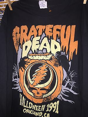 Grateful Dead T-Shirt Halloween 1991 Oakland CA OOP Ltd Ed Lg EUC World Ship BIN
