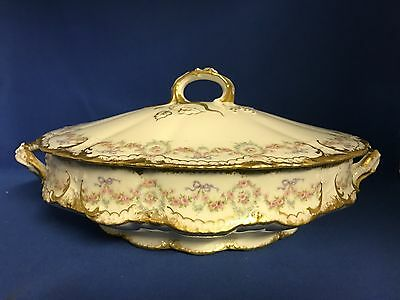 THEODORE HAVILAND Limoges Dinnerware SCHLEIGER 330 Oval Covered Vegetable