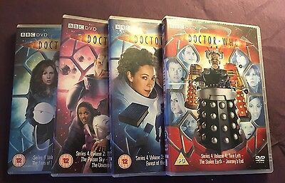 Doctor Who Series 4 Volumes 1, 2, 3 And 4