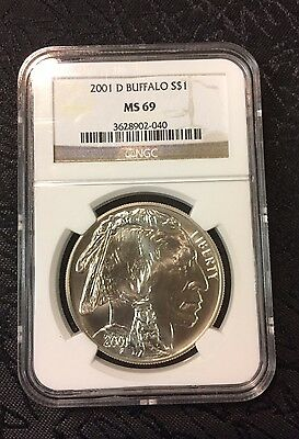 2001 D Buffalo $1 Commemorative Silver Dollar NGC MS69