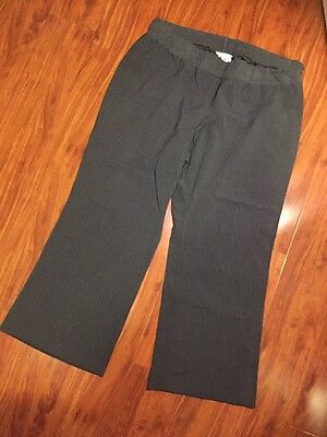 Motherhood Maternity Career Gray Pinstriped Pants Size XL