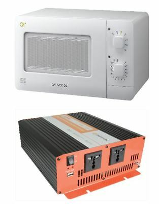 microwave oven and 24v 2500w inverter combo pack suit lorry hgv truck military