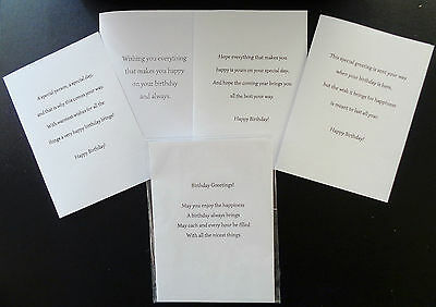 PK OF 10 BIRTHDAY CARD INSERTS,100GSM,PRE-CUT READY FOR USE A5, A6, 5x5, 6x6,7x5