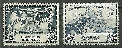 SOUTHERN RHODESIS A mm set of (2) commem. stamps 1949